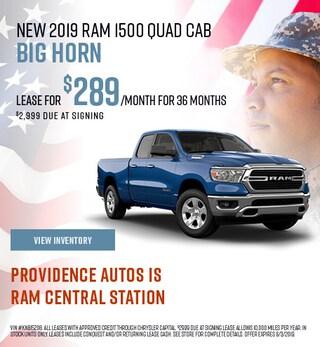 2019 RAM 1500 Quad Cab Big Horn - Lease
