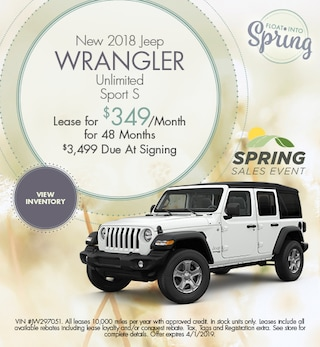 2018 Jeep Wrangler Lease - March