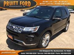 New 2018 Ford Explorer Limited SUV in Burkburnett, TX