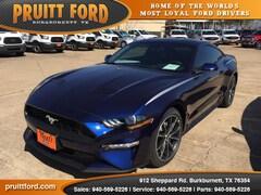 New 2018 Ford Mustang Ecoboost Coupe in Burkburnett, TX