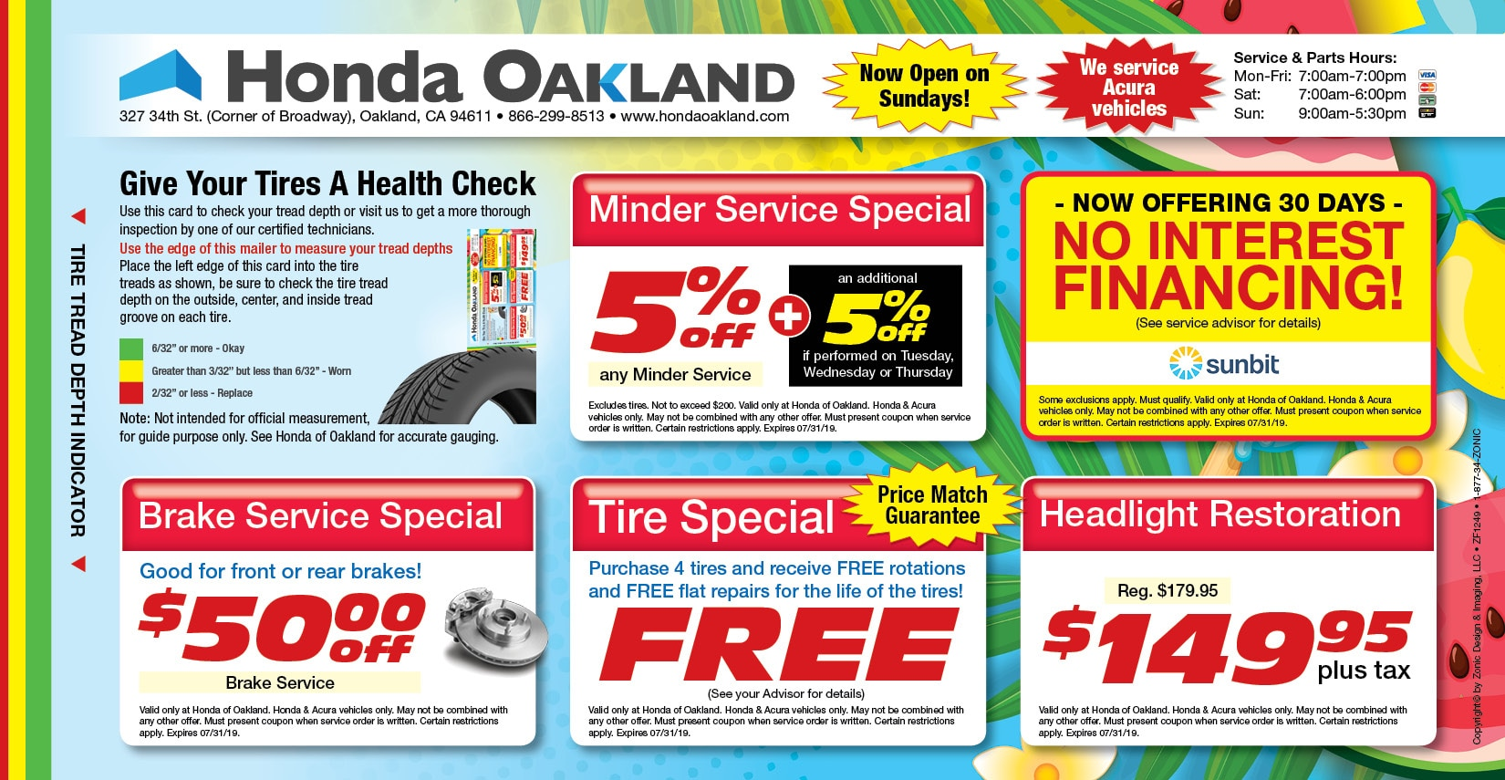 image regarding Take 5 Oil Change Coupons Printable titled Honda Services Offers Coupon codes within Oakland, CA