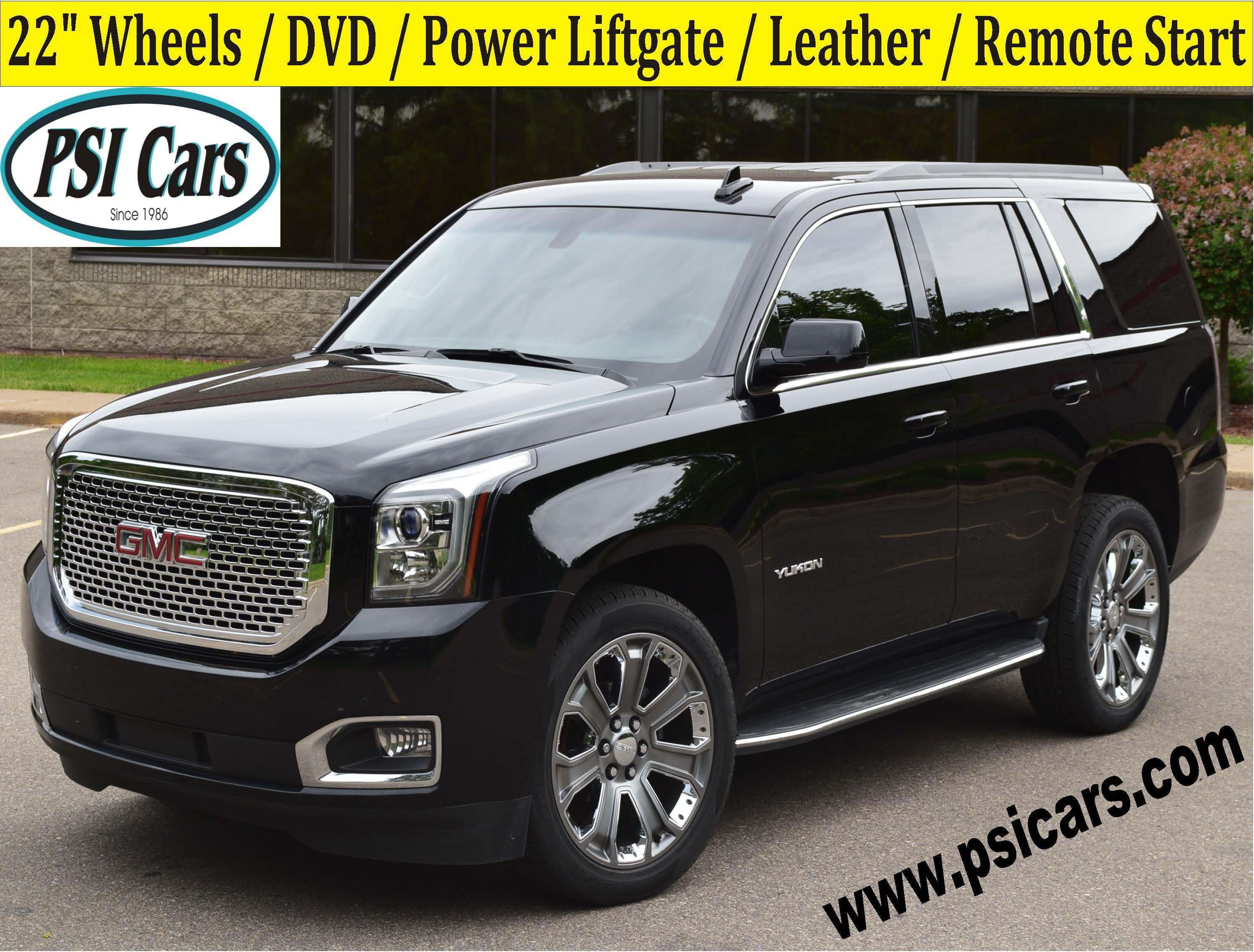 2016 GMC Yukon 22's / DVD / Power Liftgate / Leather /  SUV
