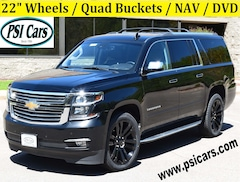 2017 Chevrolet Suburban Premier / 22's / Quad Bucket / NAV / DVD / Leather SUV