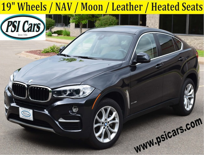 2016 BMW X6 xDrive35i / NAV / Moon / Leather / 19's Sports Activity Coupe