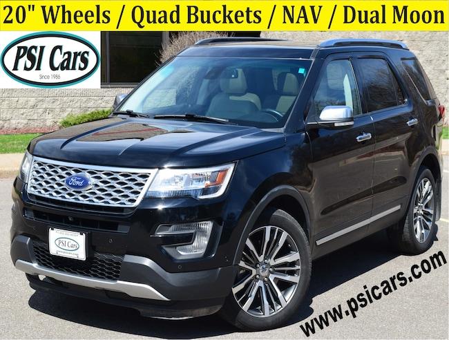 2016 Ford Explorer Platinum / 20's / Quad Buckets / NAV / Dual Moon SUV