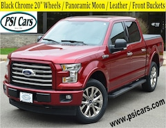 2017 Ford F-150 XLT / Black Chrome 20's / Pano Moon / Leather Truck SuperCrew Cab