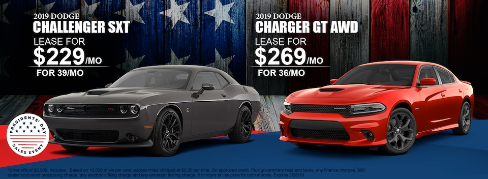 2019 Dodge Challenger and Charger Lease Specials