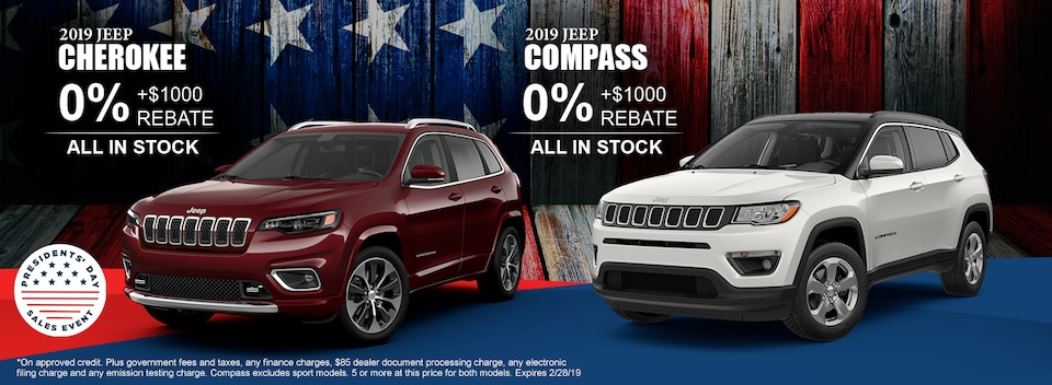 2019 Jeep Compass and Cherokee Finance Speial