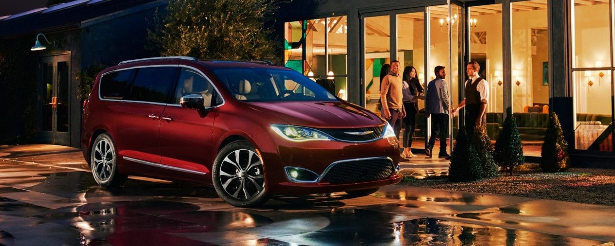2017 Chrysler Pacifica Red Exterior Front Night