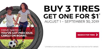 Buy 3 Tires and Get One for $1