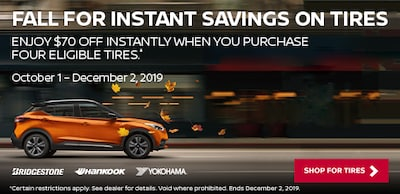 Fall For Instant Savings On Tires