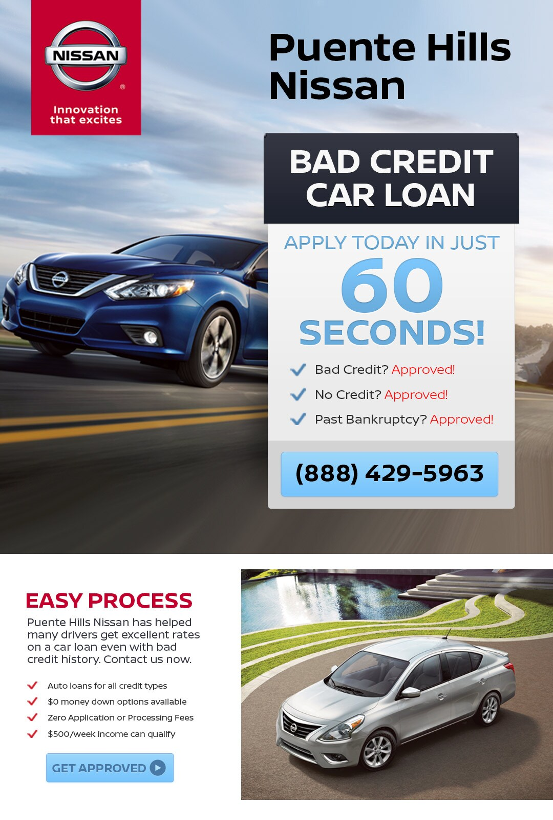 Bad Credit Car Loan Puente Hills Nissan