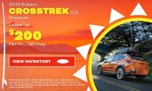 2019 Subaru Crosstrek - May