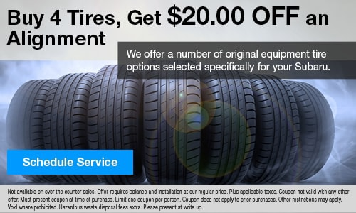 Buy 4 Tires, Get $20 Off an Alignment