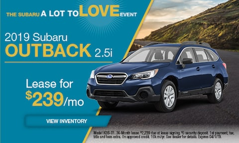2019 Subaru Outback Lease - March