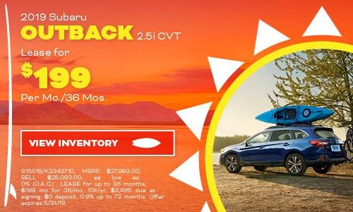 2019 Subaru Outback - May