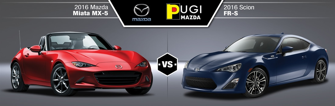 2016 Mazda Miata MX-5 vs 2016 Scion FR-S in Downers Grove