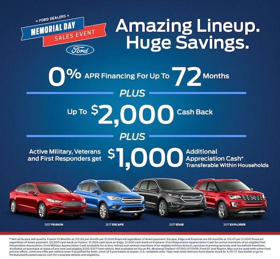 Memorial Day Car Sales 2017 >> Memorial Day Sales Event Apple Ford Of Lynchburg