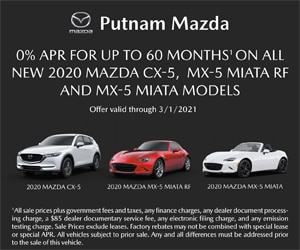 0% APR for Up to 60 Mos on All New 2020 CX-5, MX-5 Miata RF, and MX-5 Miata