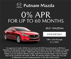 mazda6 0% for up to 60 mo