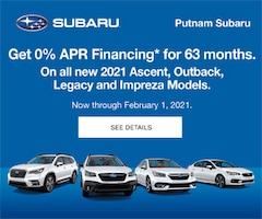 0% APR Financing for 63 Months on Select 2021 Models