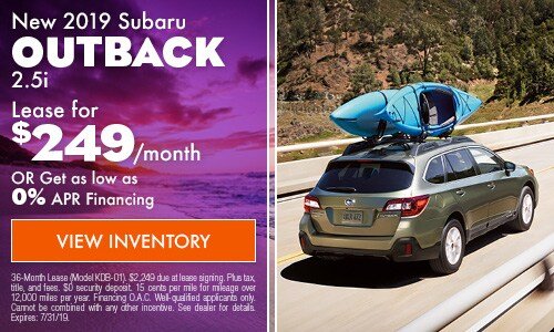 2019 Subaru Outback - July