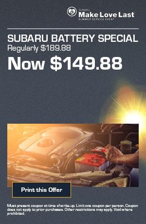 Subaru Battery Special