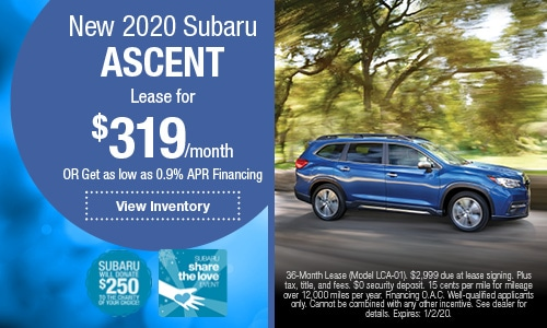 New 2020 Subaru Ascent
