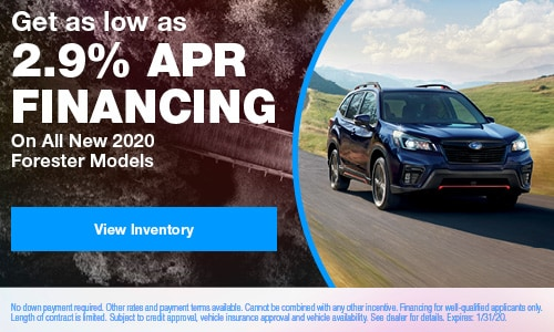 Get as low as 2.9% APR Financing On All New 2020 Forester Models