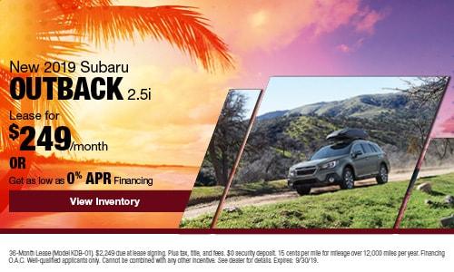 2019 Subaru Outback - September