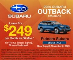 2020 Subaru Outback Standard