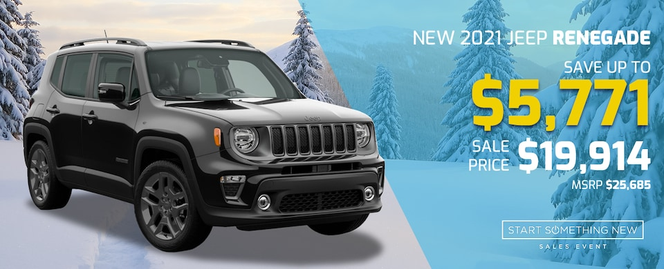 2021 Jeep Renegade for $19,914!