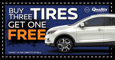 Buy 3 Tires, Get One Free!