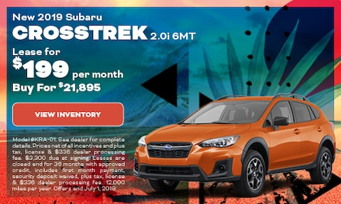 New 2019 Subaru Crosstrek 2.0i 6MT