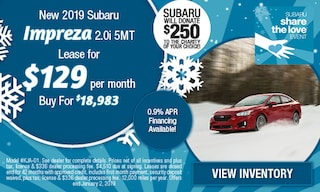 New 2019 Subaru Impreza 2.0i 5MT