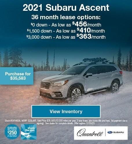Share the Love Subaru Ascent