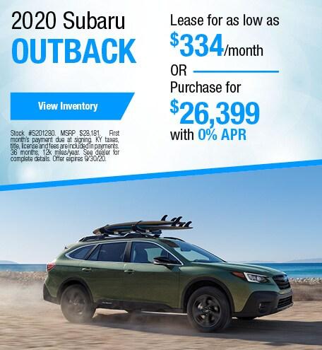 September 2020 Subaru Outback