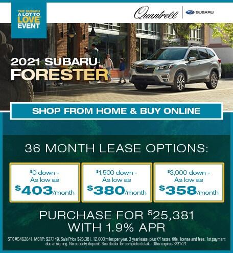March 2021 Subaru Forester