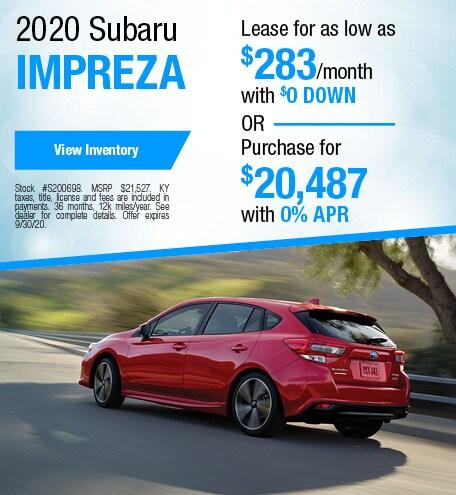 September 2020 Subaru Impreza