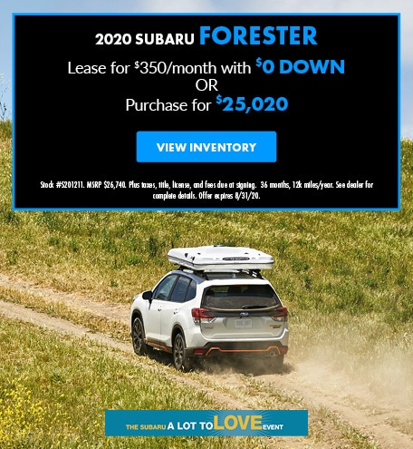 August 2020 Subaru Forester