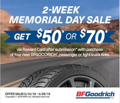 BF Goodrich Tire Rebate