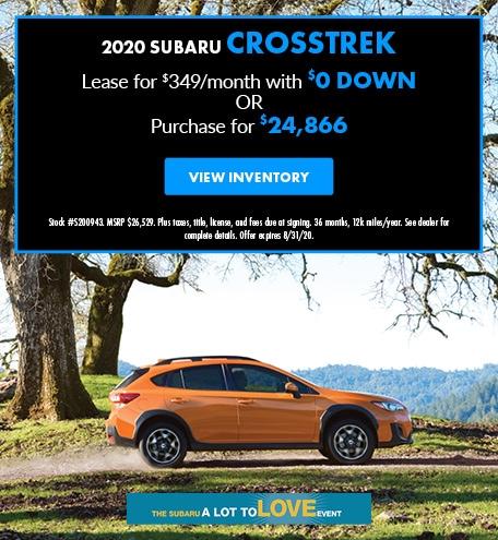 August 2020 Subaru Crosstrek