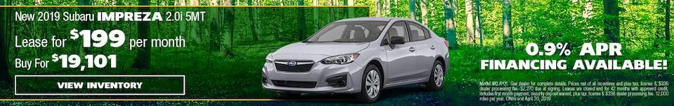 New 2019 Subaru Impreza 2.0i 5MT