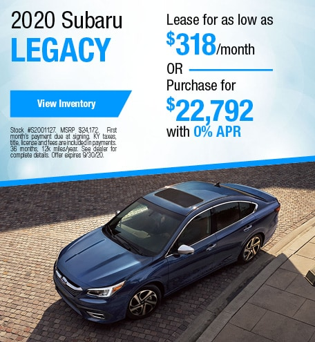 September 2020 Subaru Legacy