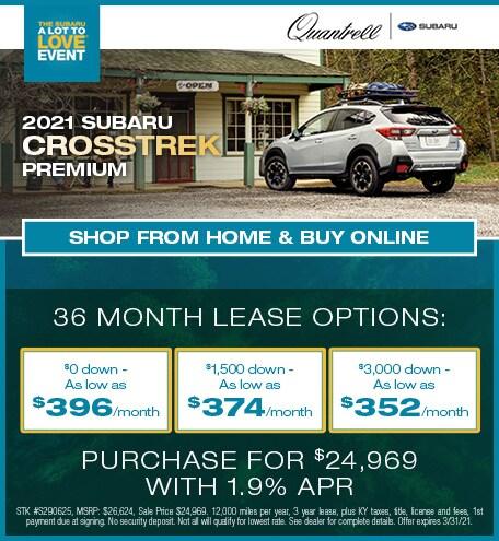 March 2021 Subaru Crosstrek