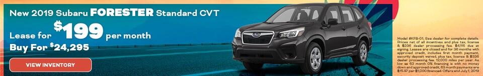 New 2019 Subaru Forester Standard CVT