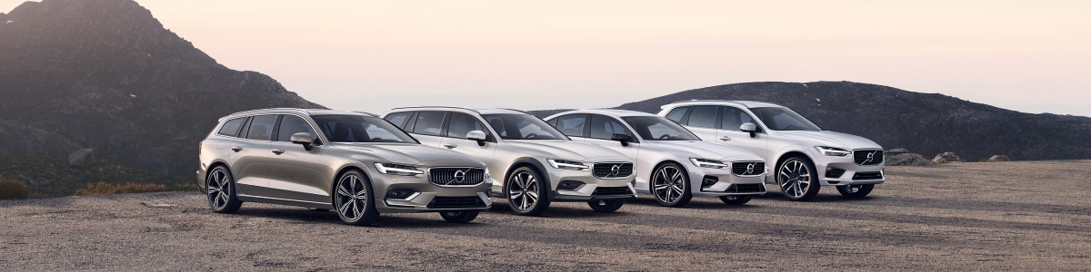 New Volvo Lineup on the cliff