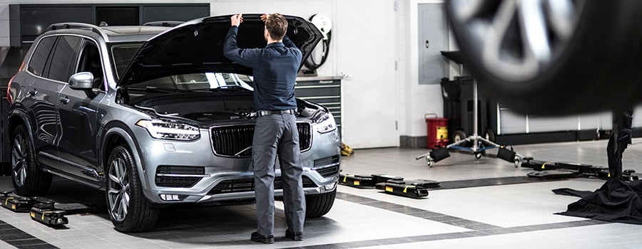 Volvo Service Technician in Workshop
