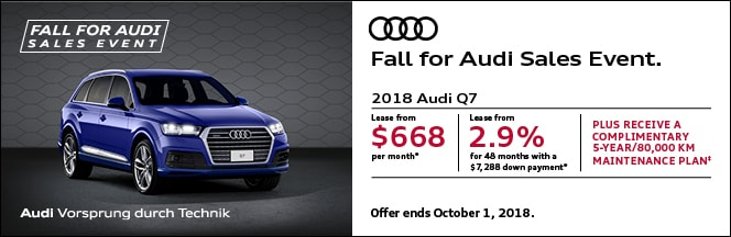 Audi Queensway New Audi Dealership In Etobicoke ON MZ S - Audi q7 maintenance cost