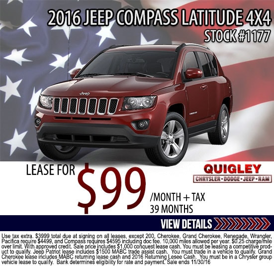 Chrysler Town And Country Lease >> New Car Lease Deals | Quigley Chrysler Dodge Jeep Ram